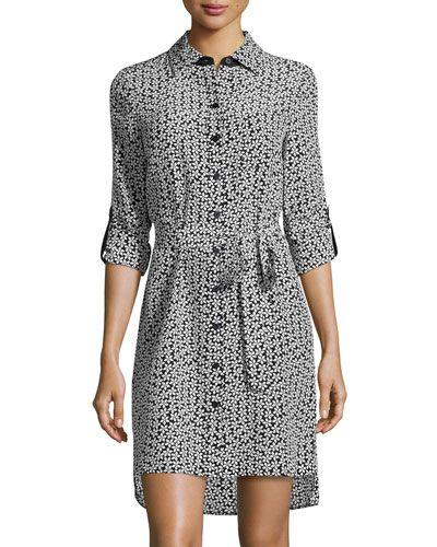 3d3347861d Diane von Furstenberg Prita Floral Silk Shirtdress