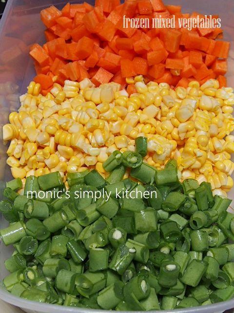 Frozen Mixed Vegetables Sayuran Beku Frozen Sayuran