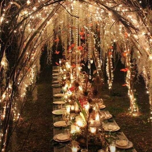 fairy lights & baubles
