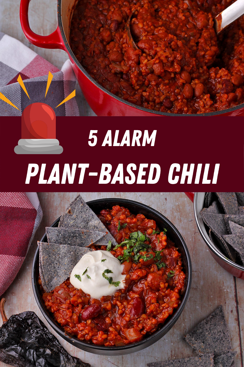 5 Alarm Plant Based Chili Another Music In A Different Kitchen Recipe Vegan Chili Recipe Vegan Recipes Healthy Whole Food Recipes