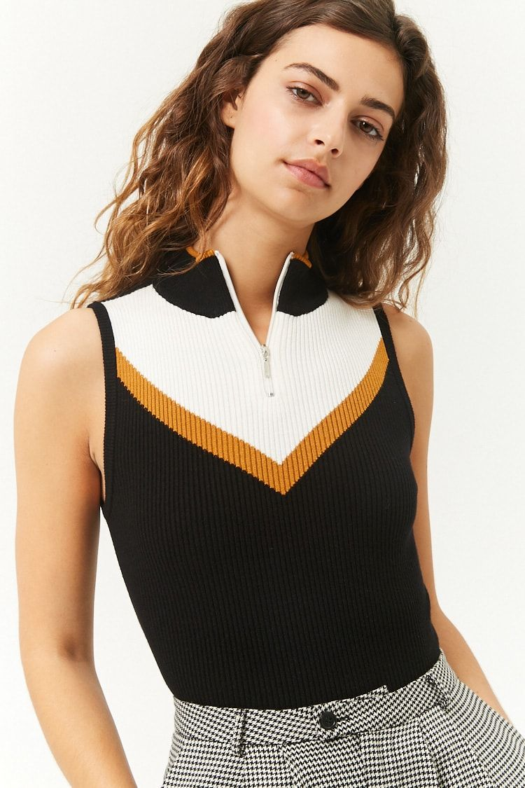 a1ef86d7866d8 Colorblock Sweater-Knit Tank Top
