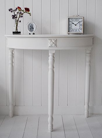 Half Moon console table - White Hall Table | Red white grey ...