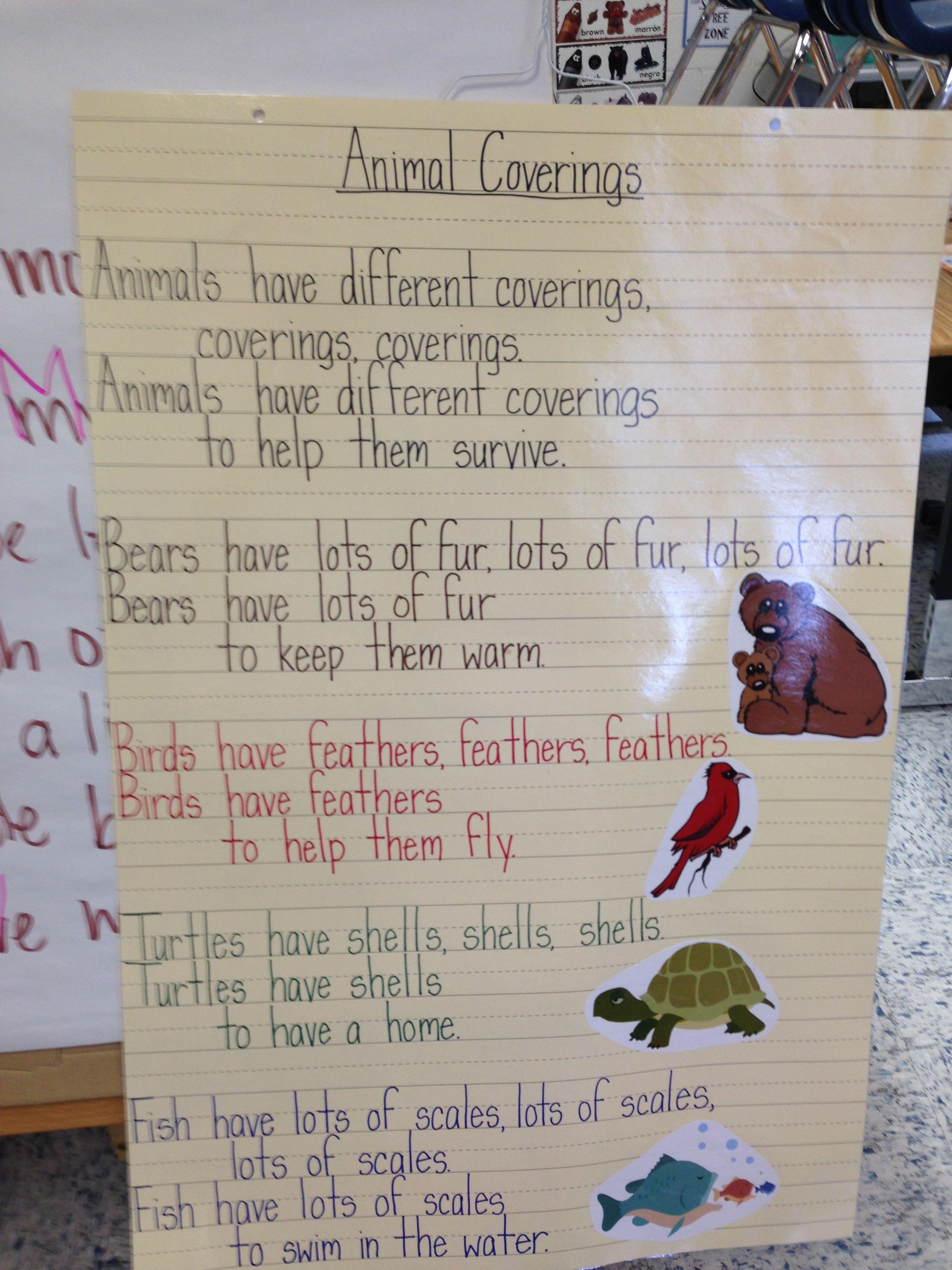 Animal Coverings Poem