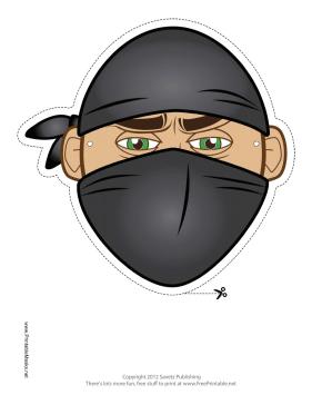 Free Ninja Printable Mask Mascaras