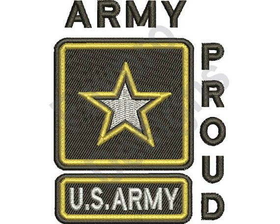 Army Proud Machine Embroidery Design Machine Embroidery And