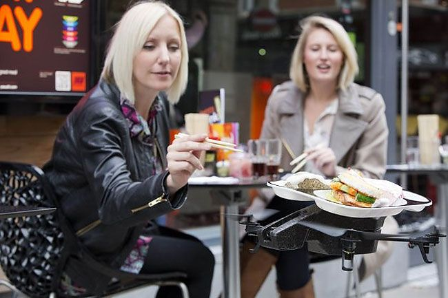 The iTray: Restaurant Invents Flying Drone Waiter Tray
