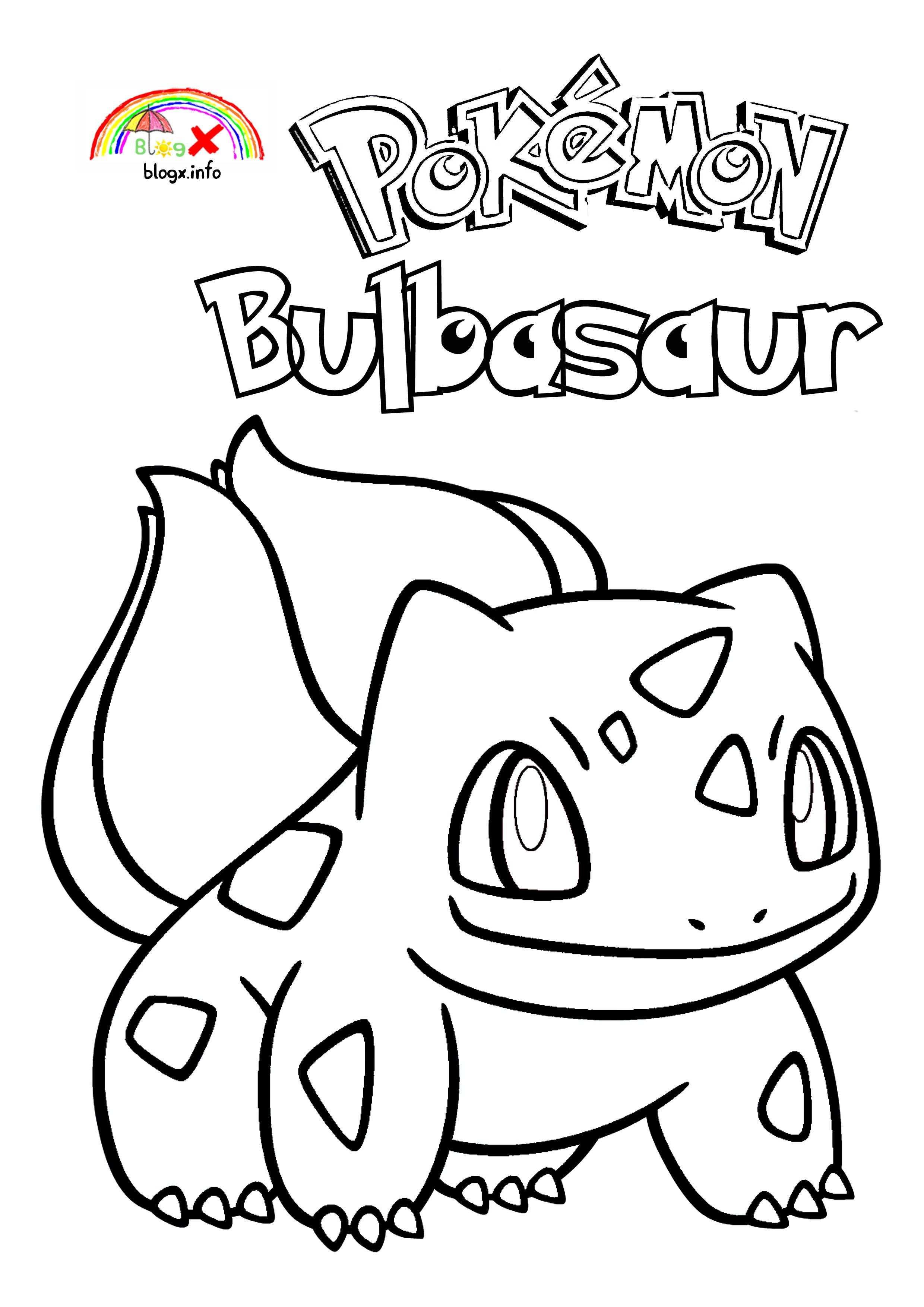 Pokemon Bulbasaur Coloring Page blogX.info  Pokemon bulbasaur