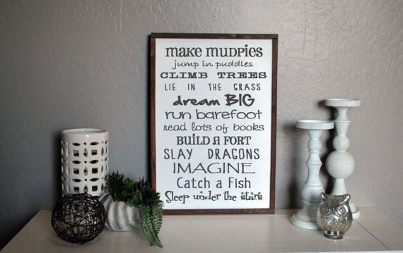 Boy Rules sign Big Brother Sign Brothers Sign by SweetPineDesignCo