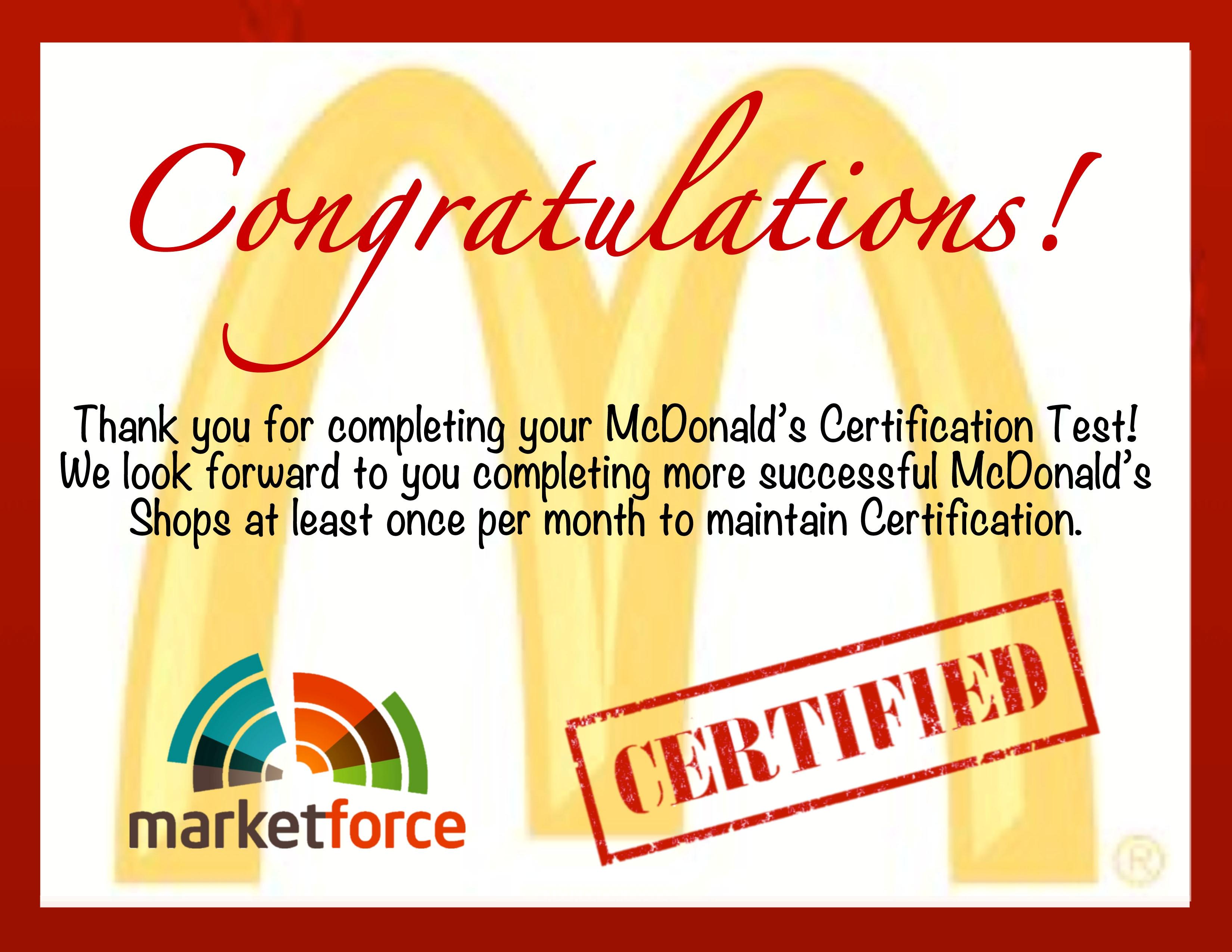 Secret Shopper Mcdonalds Certification Obx Mystery Shopper