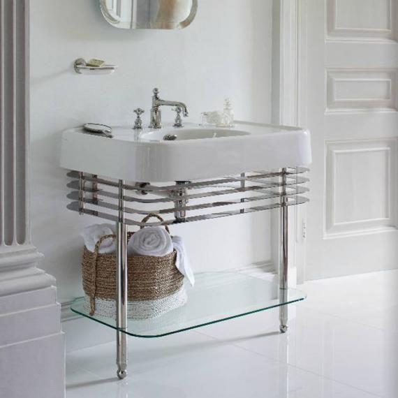 Arcade 900mm Basin With Nickel Wash Stand | Bathroom ...