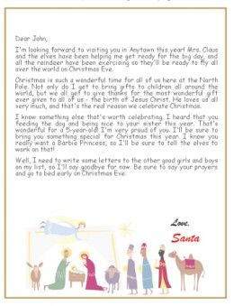 Printable christian santa letters santa christian and holidays christian letter from santa spiritdancerdesigns Gallery