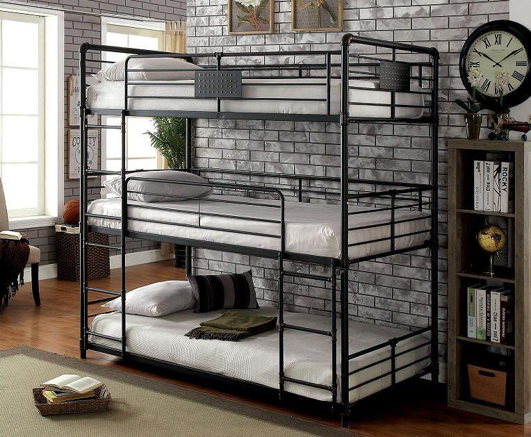 Conserving Space And Staying Trendy With Triple Bunk Beds | Cuarto ...