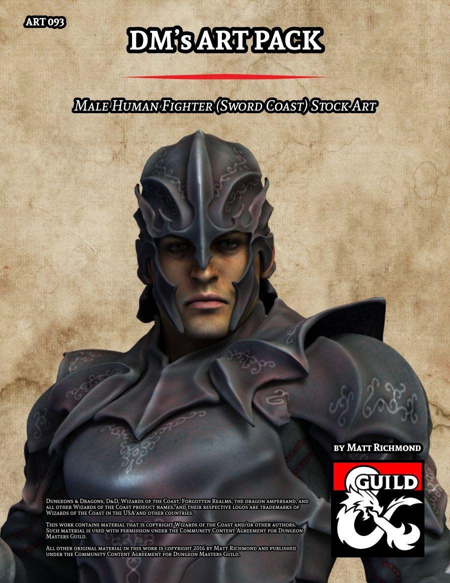ART093 Male Human Fighter (Sword Coast) - Dungeon Masters Guild   Dungeon Masters Guild