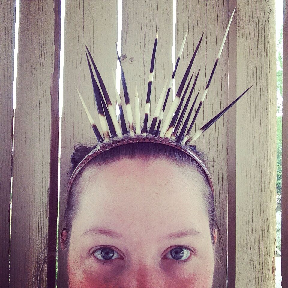 Porcupine headband for a simple porcupine themed costume.