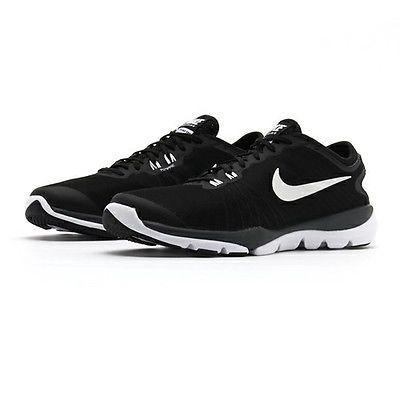 ff84bd4dbbc7 Nike Flex Supreme Tr 4 Womens 819026-002 Black White Training Shoes Size 10