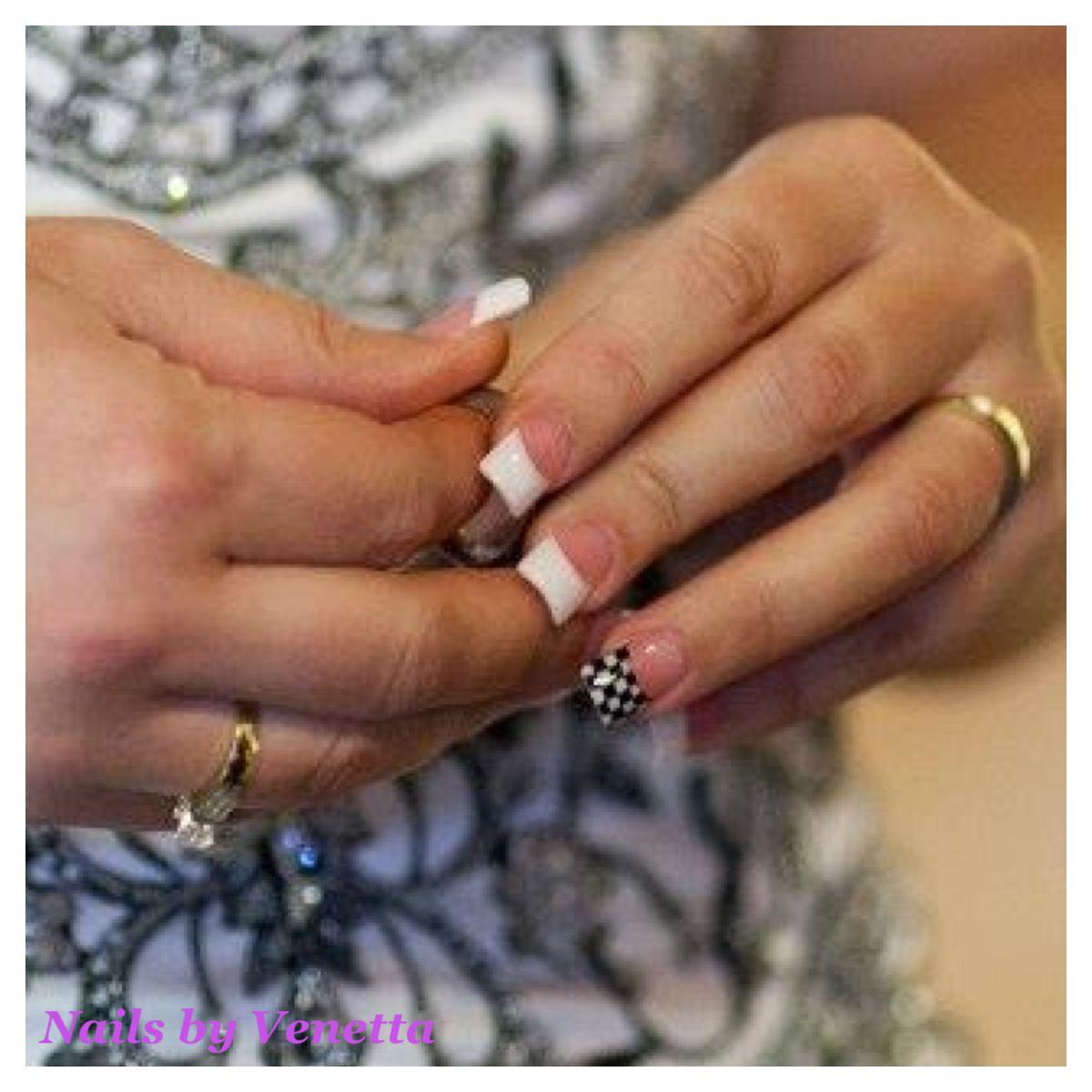 Bridal Acrylic Nails