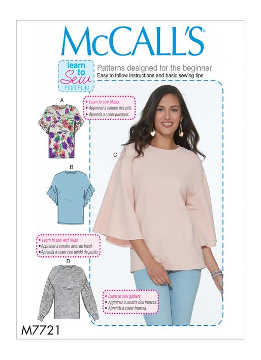 M7721 | McCall\'s Patterns | Sewing Patterns | Sewing | Pinterest ...