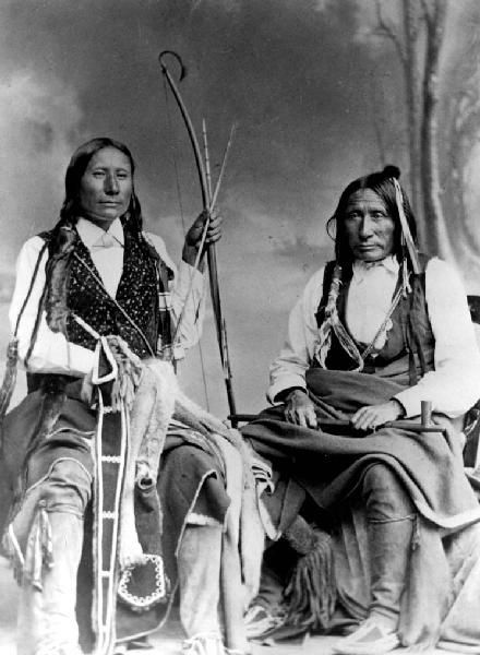 Photo of Northern Cheyenne Mad Wolf and son