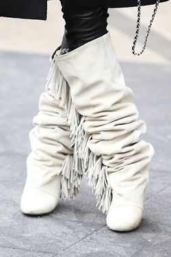 cream Isabel Marant fringe boots, I would really like something ...