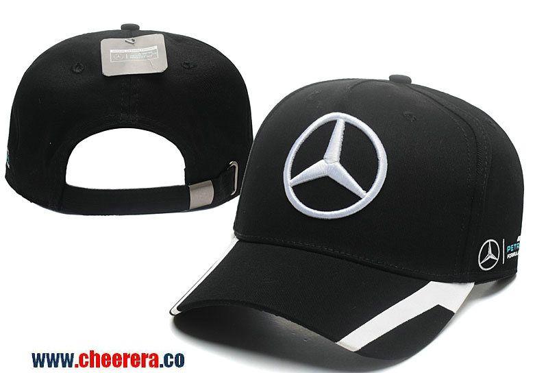 Mercedes-Benz Adjustable Snapback Black Hat  756e8b628c5