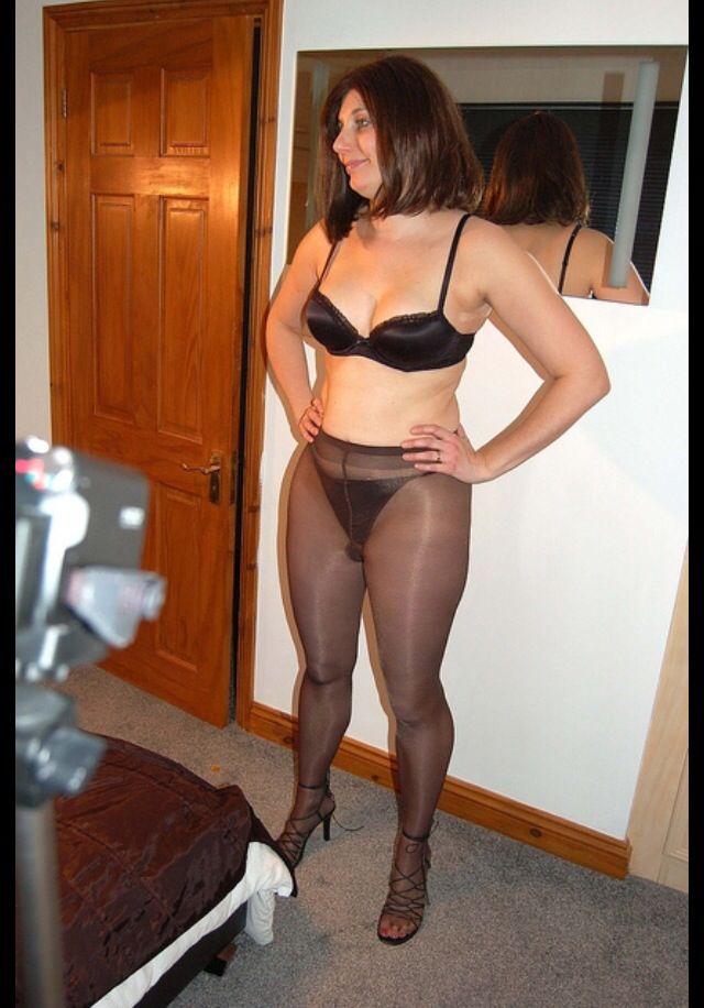 Wife teasing in her black panties