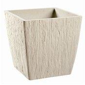 Bac Carre Quartz Blanc L 38x38xh 38cm 538803 Bacs En Plastique Bac Pots