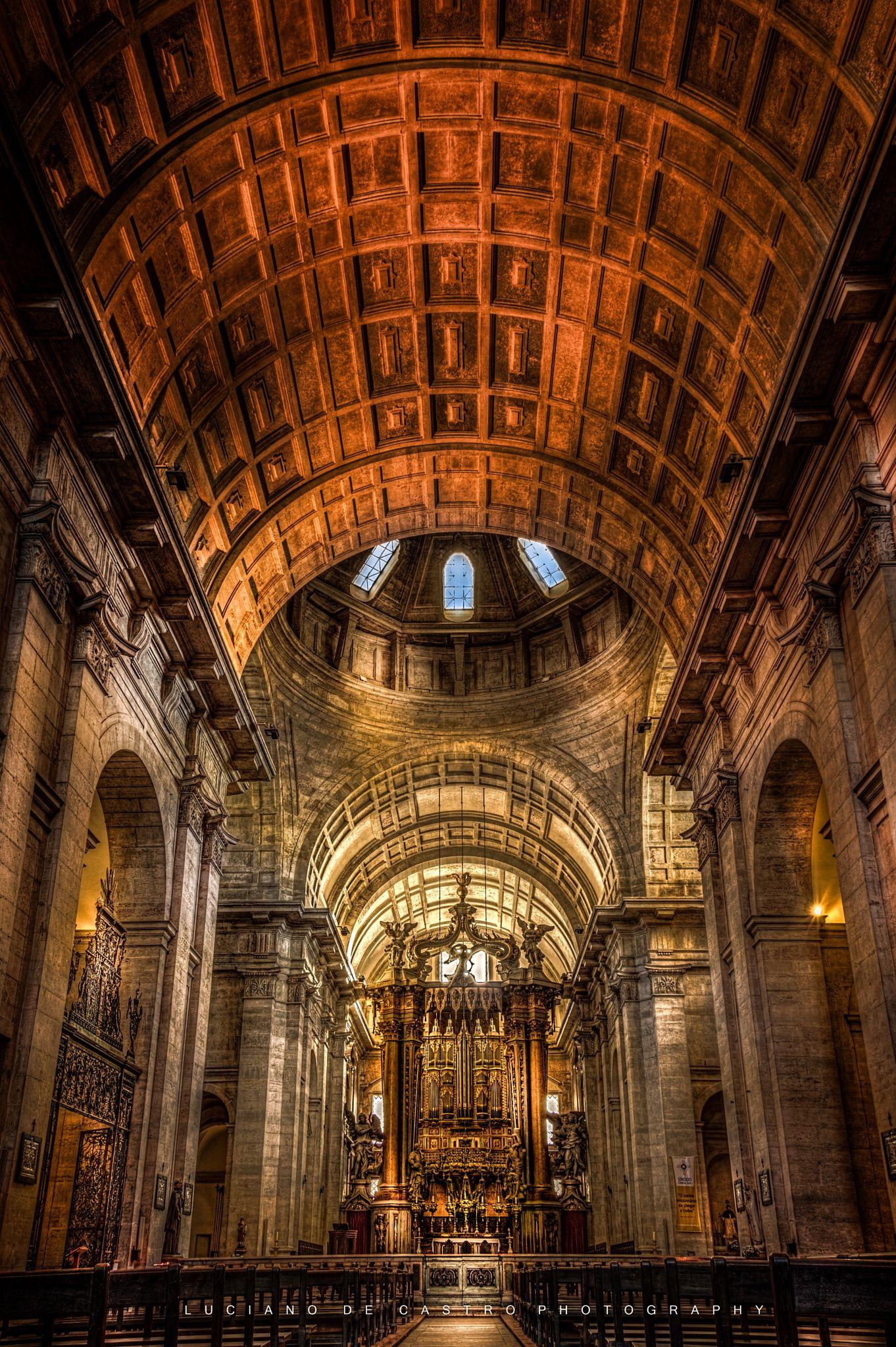 St Vincent's Church - Igreja de São Vicente de Fora começada a ser construída em 1582. no bairro histórico de Alfama em Lisboa.