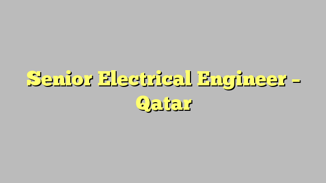 Image result for Electrical Engineer qatar