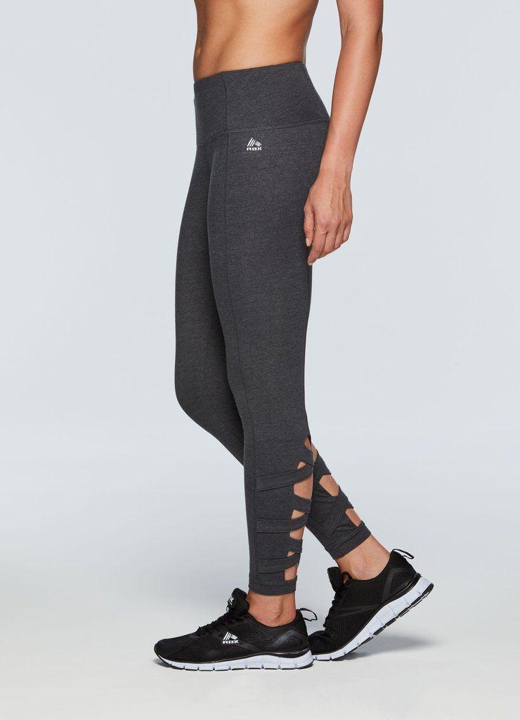 Studio Cotton Spandex Lace-Up Leggings