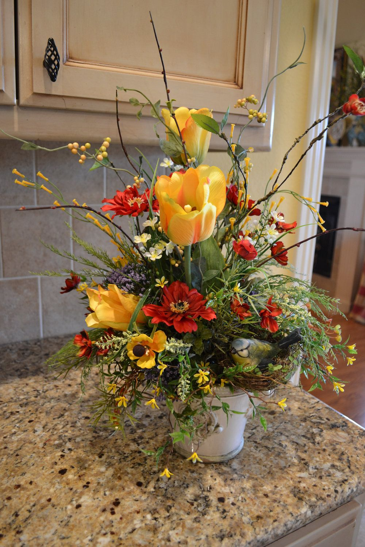 Spring Tulip Arrangement   Tulips arrangement, Spring ...