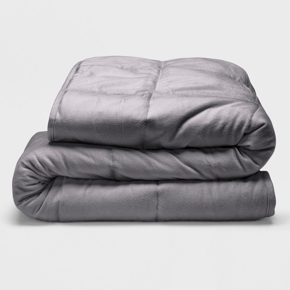 Sealy 48 X 72 Microplush 12lb Weighted Blanket Gray Size 12 Lbs Silver Weighted Blanket Bed Throws Blanket
