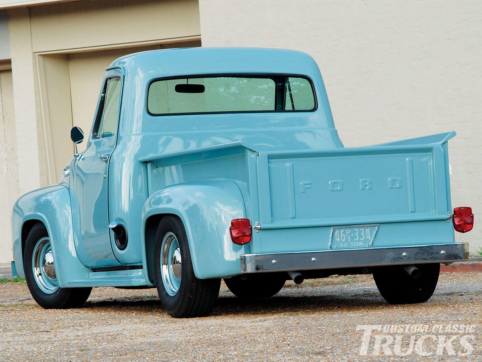 1953 ford pickup truck | 1953 Ford F 100 Rear Left View | Trucks ...