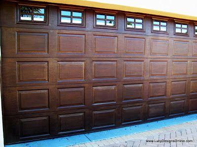 Painted Metal Garage Door Makeover Yard Pinterest Garage Door