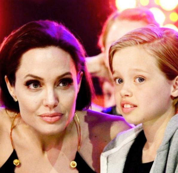 Angelina Jolie con Shiloh.