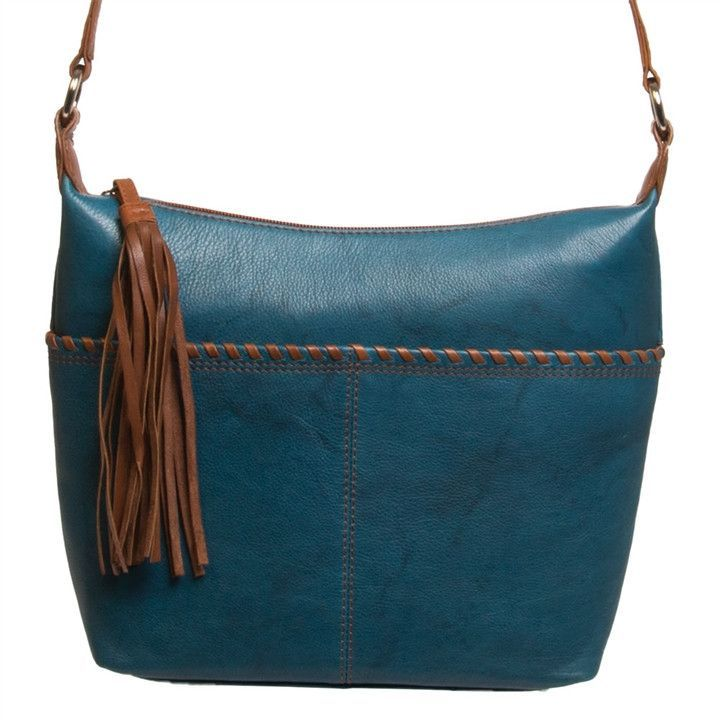 630dec5c37 Whipstitched Leather Cross Body Hobo (NB)