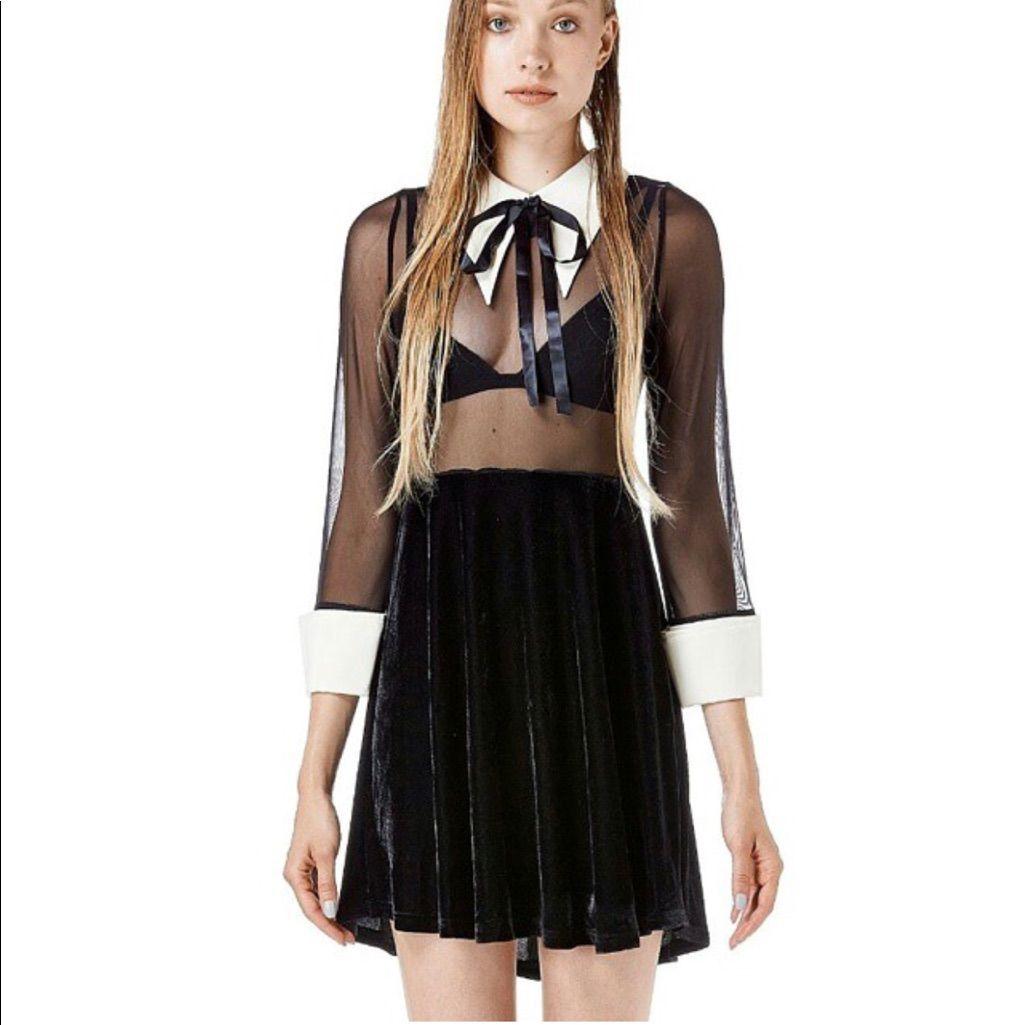 Unif Wednesday Adams Style Dress