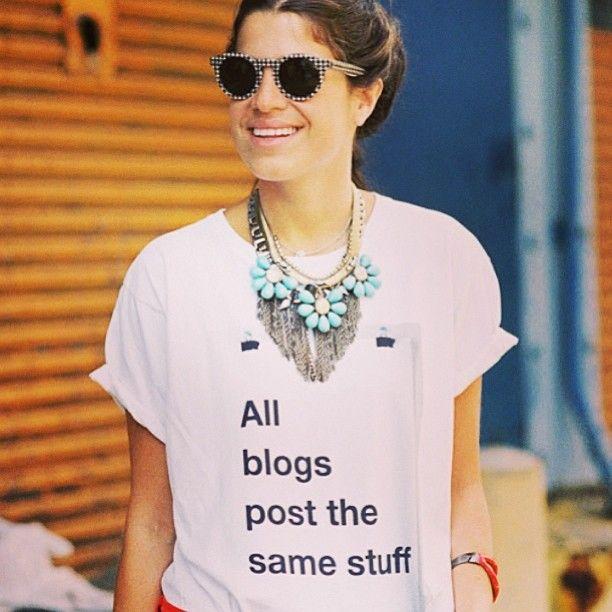 #blog @Man Repeller All blogs post the same stuff
