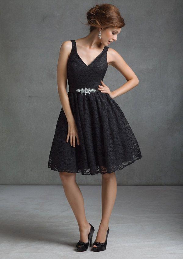 c30277507c Free Shipping knee length black lace bridesmaid dress homecoming dress 2013   89.00