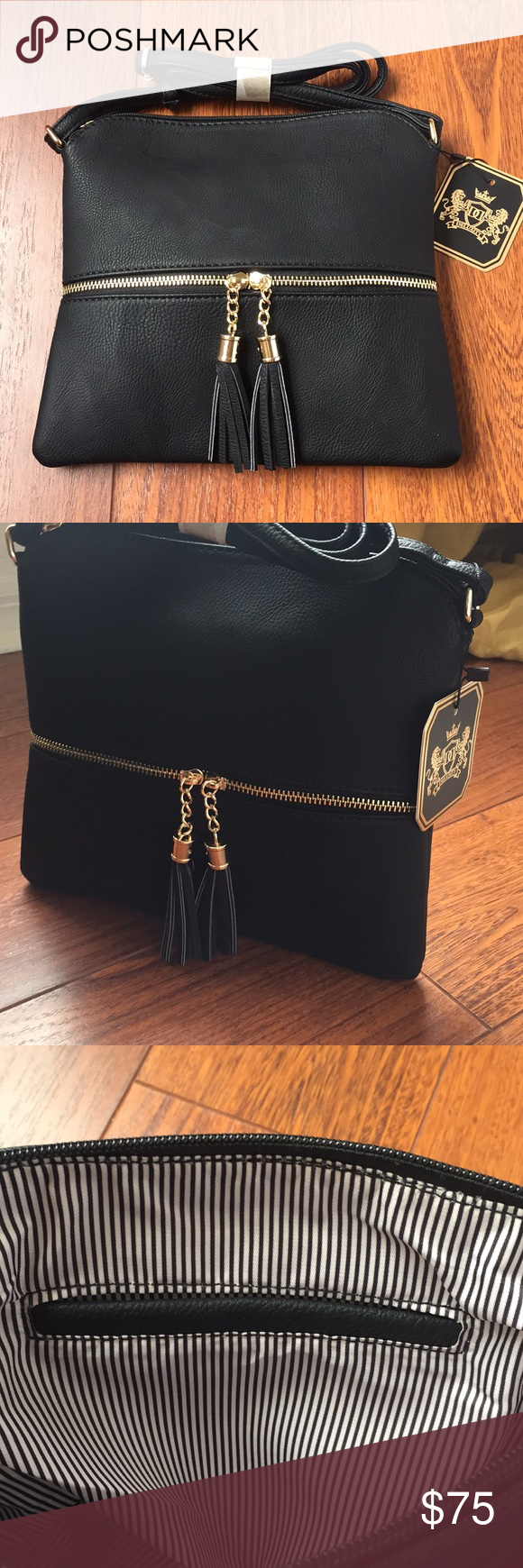 9dc14823657ffa NWT MKII Sadie Tassel Crossbody bag Never been used! This beautiful black Crossbody  bag with