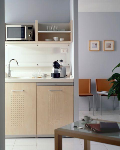 Mini kitchen tiny kitchens pinterest kitchenettes mini kitchen and bureaus - Space saving appliances small kitchens minimalist ...