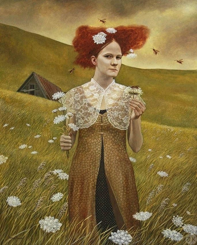 """Queen Anne's Lace""    Andrea Kowch"