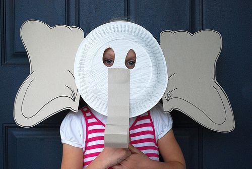 Elephant Mask · Paper Plate ... & Elephant Mask | Comprehension | Pinterest | Masking Craft and Pre ...