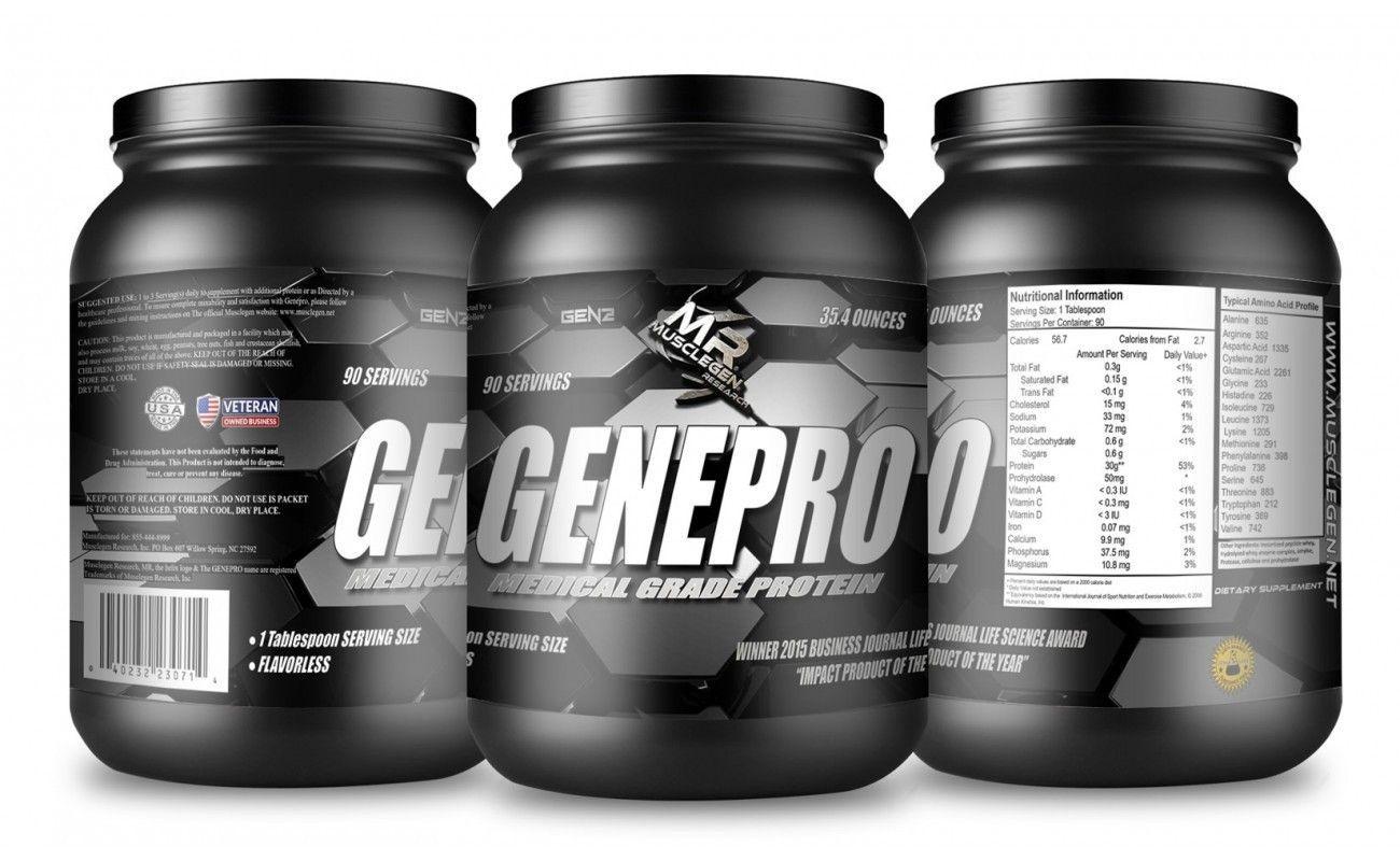 GENEPRO Medical Grade Unflavored 30g Protein Powder - 2nd Generation Flavorless Protein