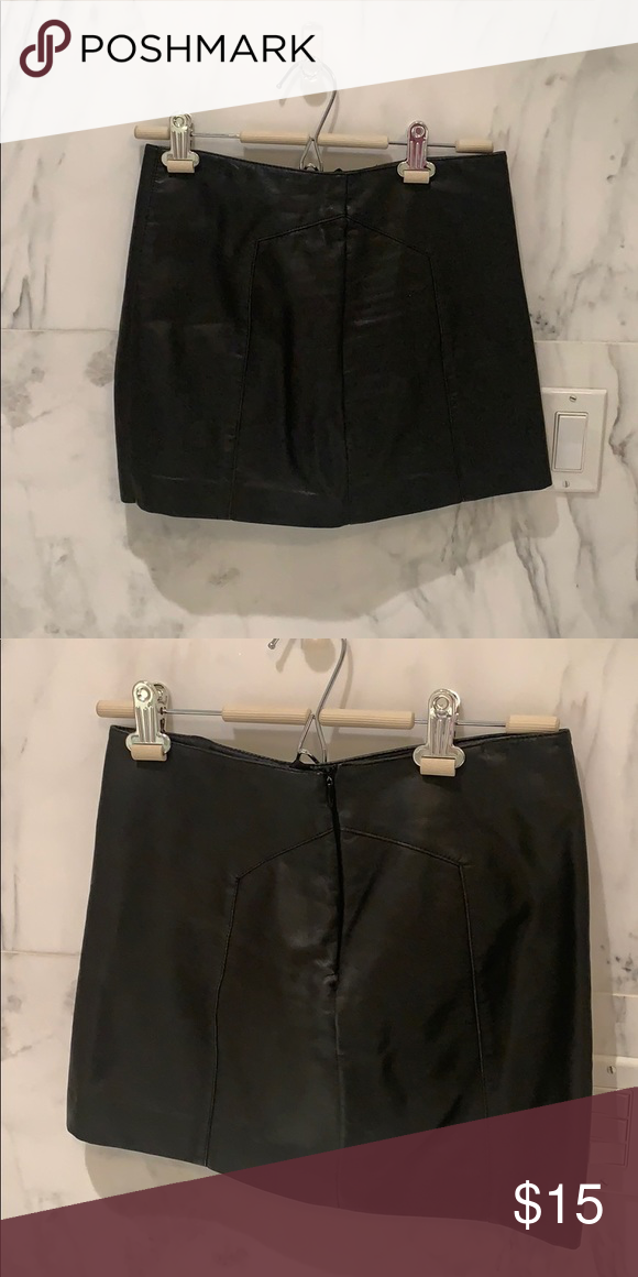 fc1a01092 Black express faux leather skirt Almost brand new express faux leather mini  skirt. No signs or wear. Express Skirts Mini