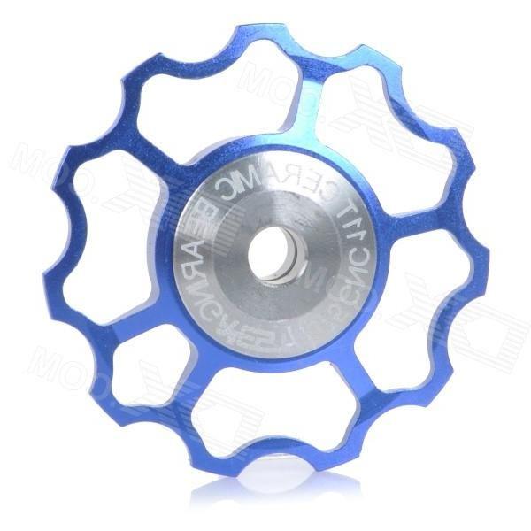 Aest YPU09A-14 Bike Bicycle Ultra Light 6-Axle 11T Ceramic Wheels Rear Derailleur Pulley - Blue