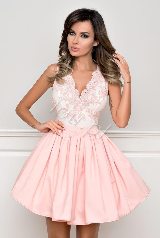 Pallaise Rose Rozowa Koronkowa Sukienka Hoco Dresses Sexey Dress Dresses
