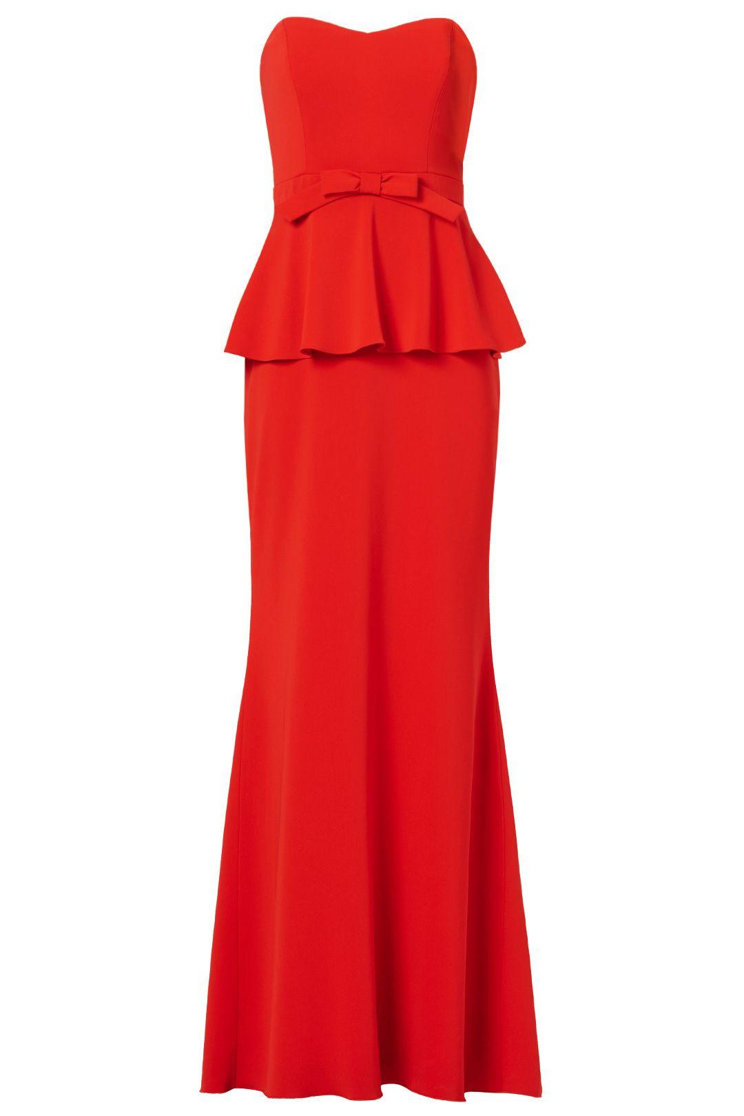 Badgley mischka rosalind peplum gown