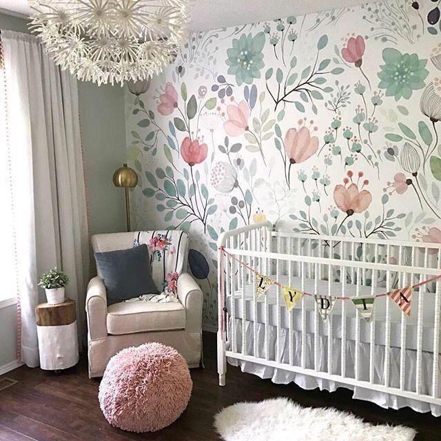 Pin By Brooke On Girls Room Girl Nursery Floral