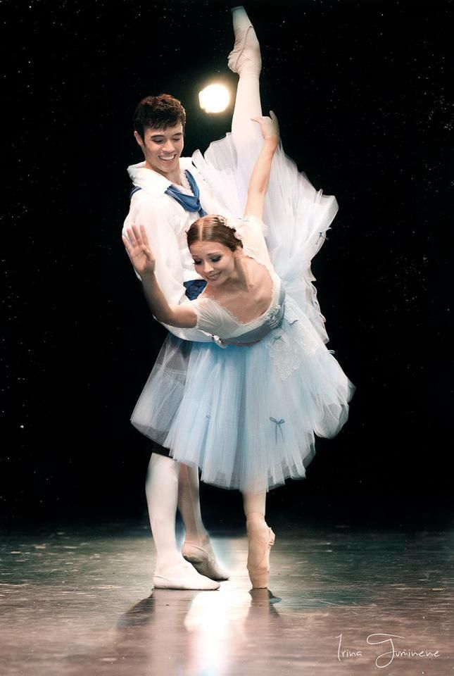 "Evgenia Obraztsova (Bolshoi Ballet) and Joseph Gatti (Boston Ballet), ""The Flower Festival in Genzano"" choreography by August Bournonville at Dance Open Ballet Festival, April 2013, Saint Petersburg, Russia"