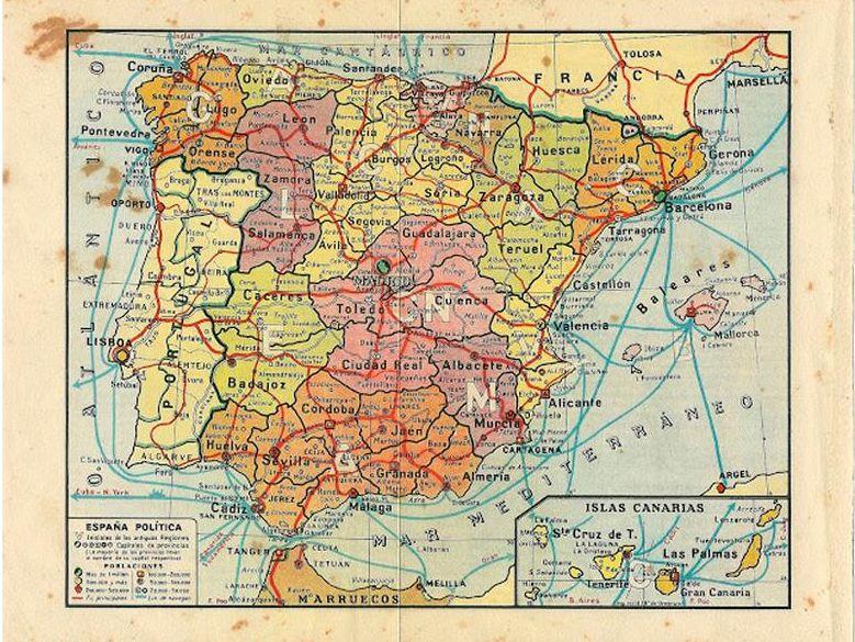 Cosas Antiguas Mapa De Espana Politica Cuando Las Canarias Estaban